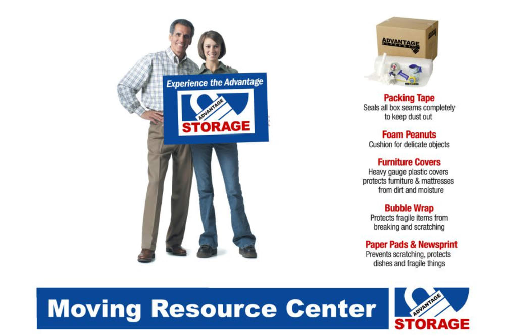 Moving resource center for moving supplies at Advantage Storage - McDermott Square in Plano, Texas