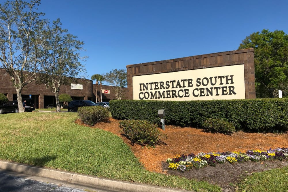 Signage outside of Interstate South Commerce Center in Jacksonville, Florida