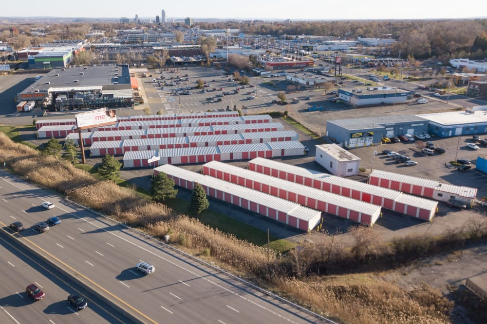 Aerial view of Prime Storage in Albany, NY