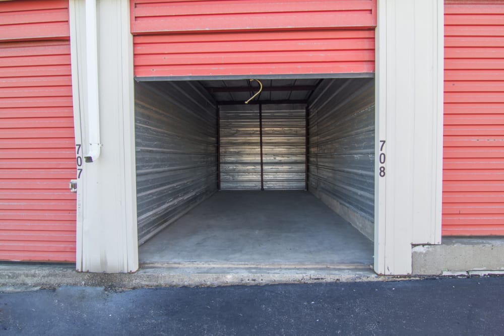 Unit with roll-up door at Prime Storage in Albany, NY