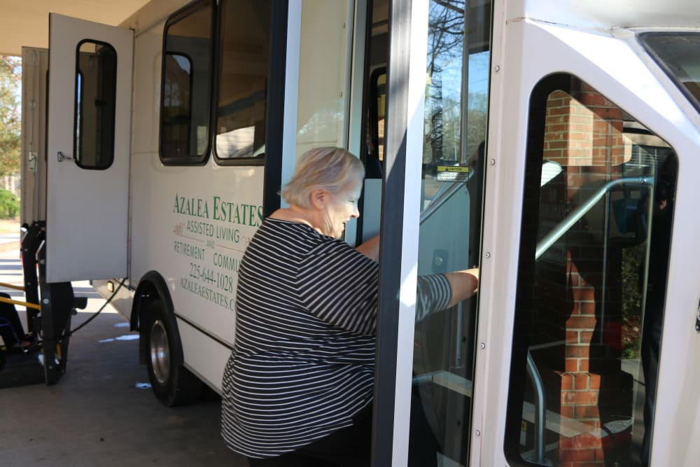 Transportation to a cultural event at Azalea Estates of Gonzales in Gonzales, LA