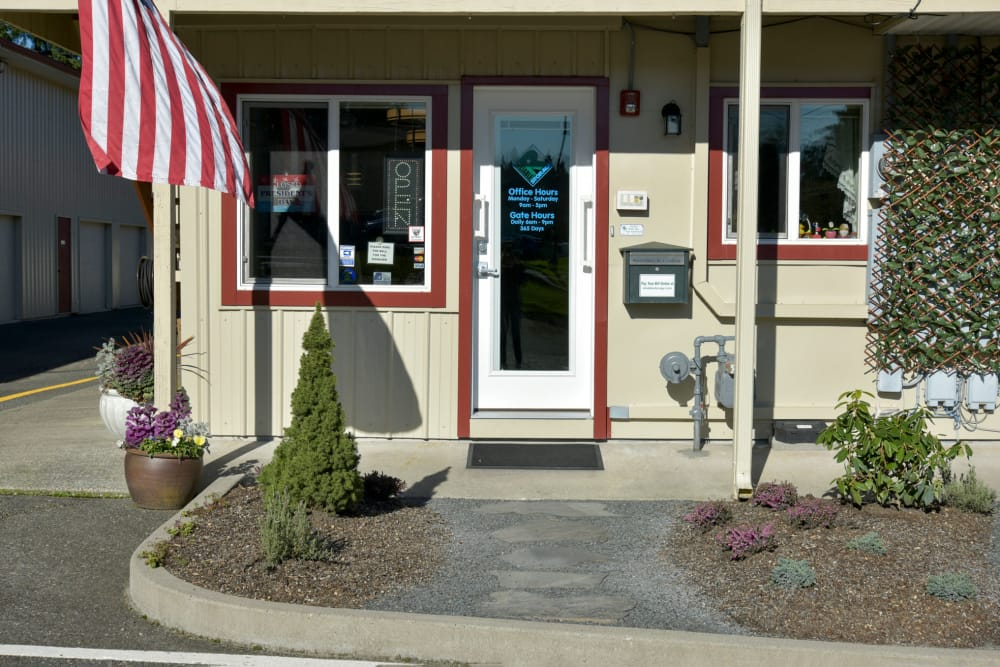 Front entrance at Reliable Storage in Silverdale, Washington