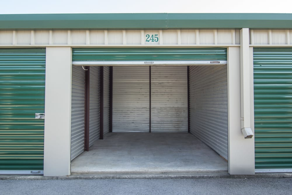 Open ground-level unit at Capital Self Storage New Hampton in New Hampton, NY