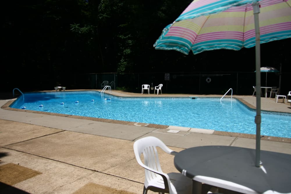 Enjoy a swimming pool at our beautiful apartments