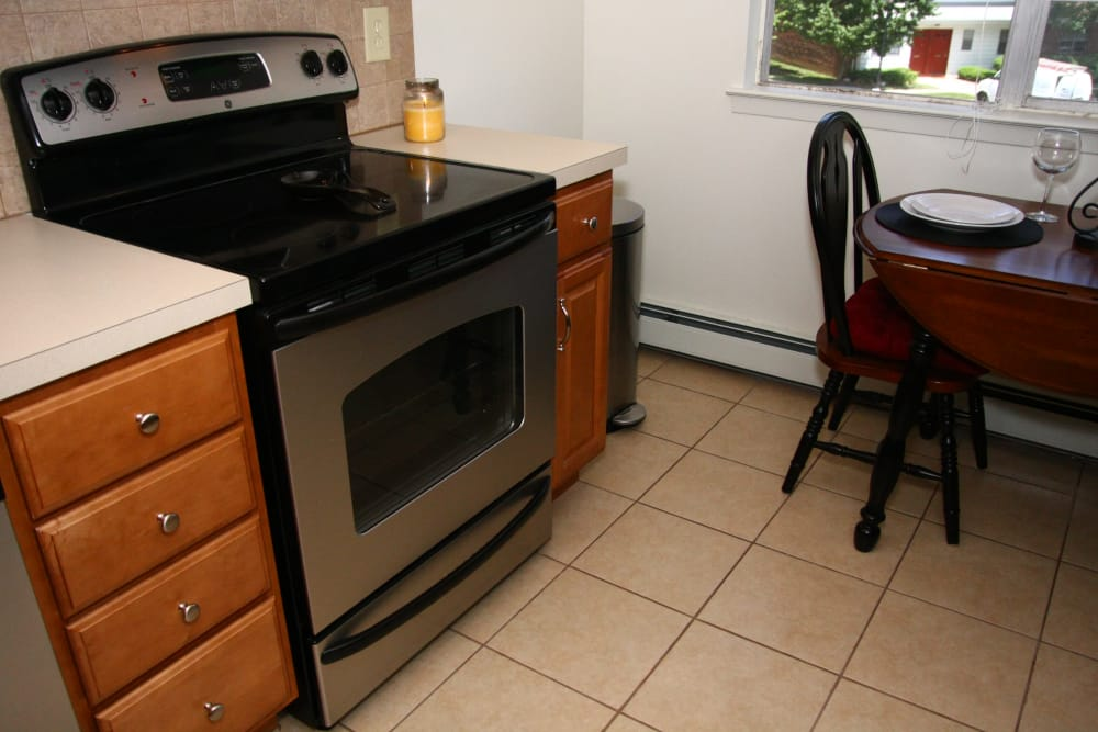 Well-equipped kitchen at Park Apartments
