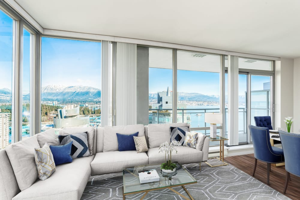 Living Room view at Bayview at Coal Harbour Vancouver