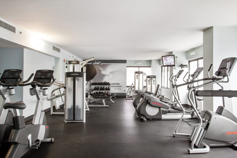 Stay in shape in our well-equipped fitness center at Prospect Place