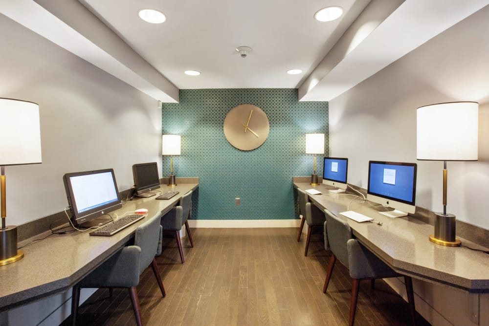 Prospect Place offers a business center with several computers