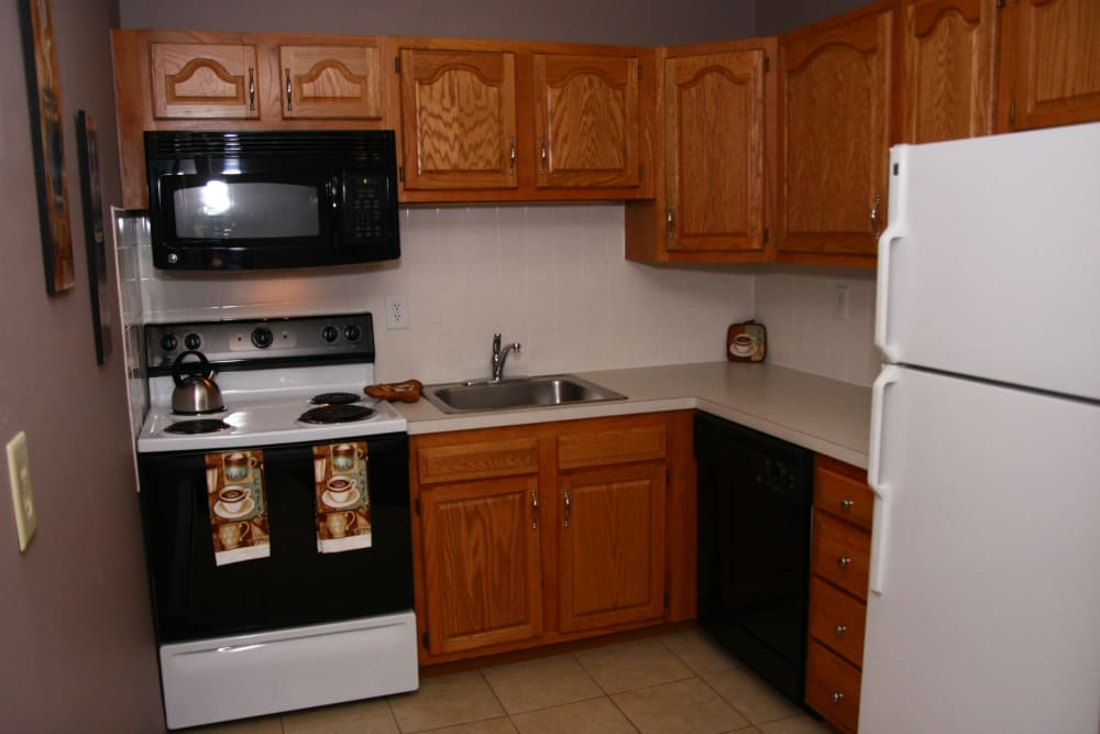 Beautiful kitchen at apartments in Bordentown, New Jersey