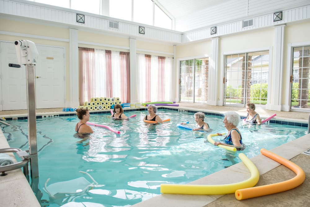 Residents of Azalea Estates of Fayetteville Doing pool exercises