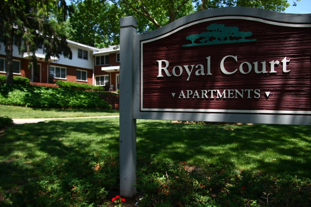 Royal Court Apartments sign
