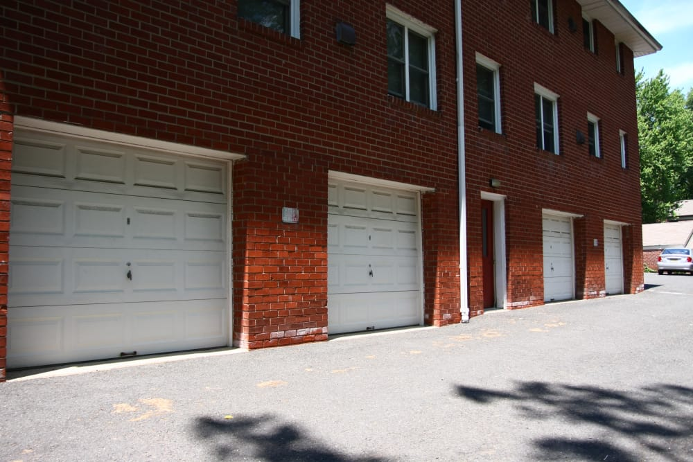 Parking garages at Royal Court Apartments
