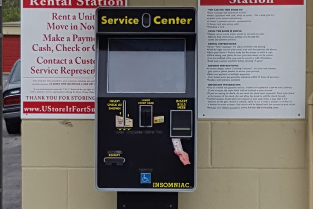 Service Kiosk at U-Store-It in Fort Smith