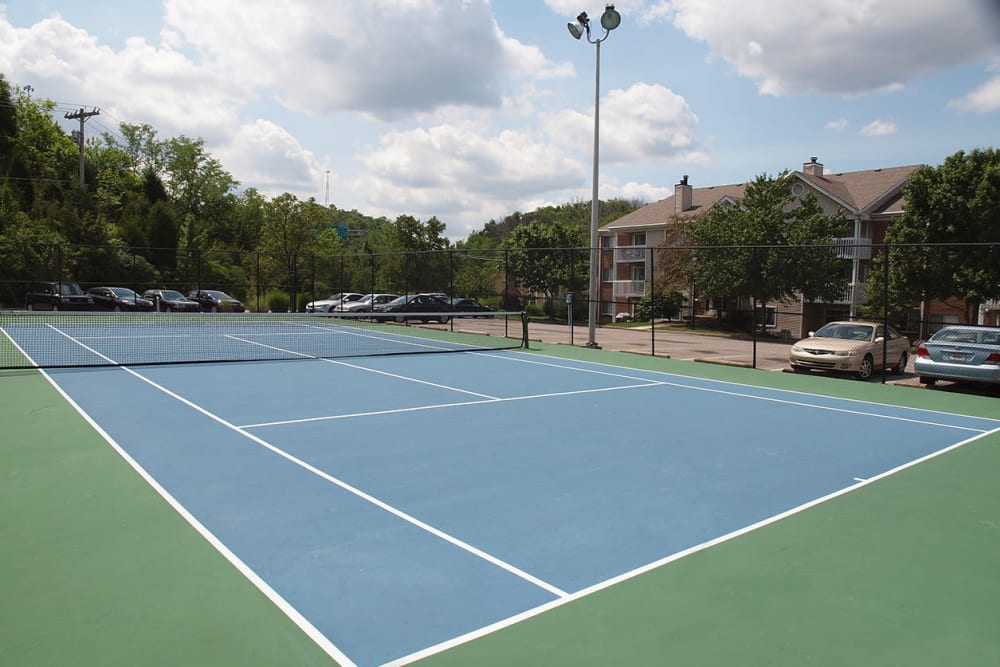 Tennis court at Fox Chase South in Southgate, Kentucky