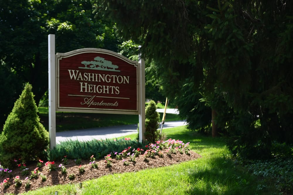 Washington Heights sign in Washington, New Jersey