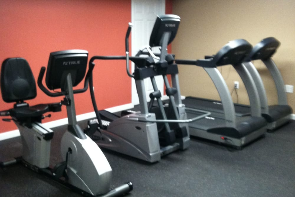 The gym at Chilton Towers has treadmills