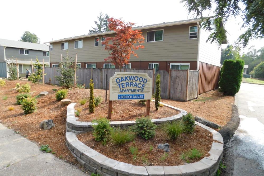 Sign at Oakwood Terrace