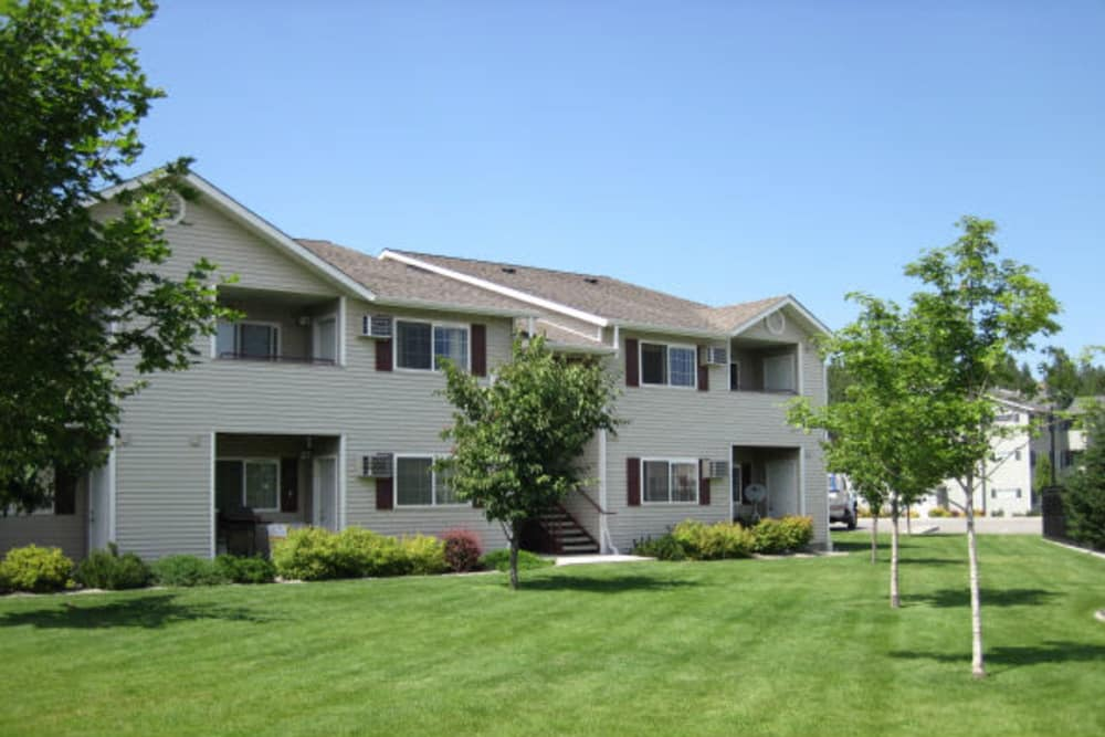 Exterior view of our apartments at River Rock Apartments in Spokane Valley, Washington