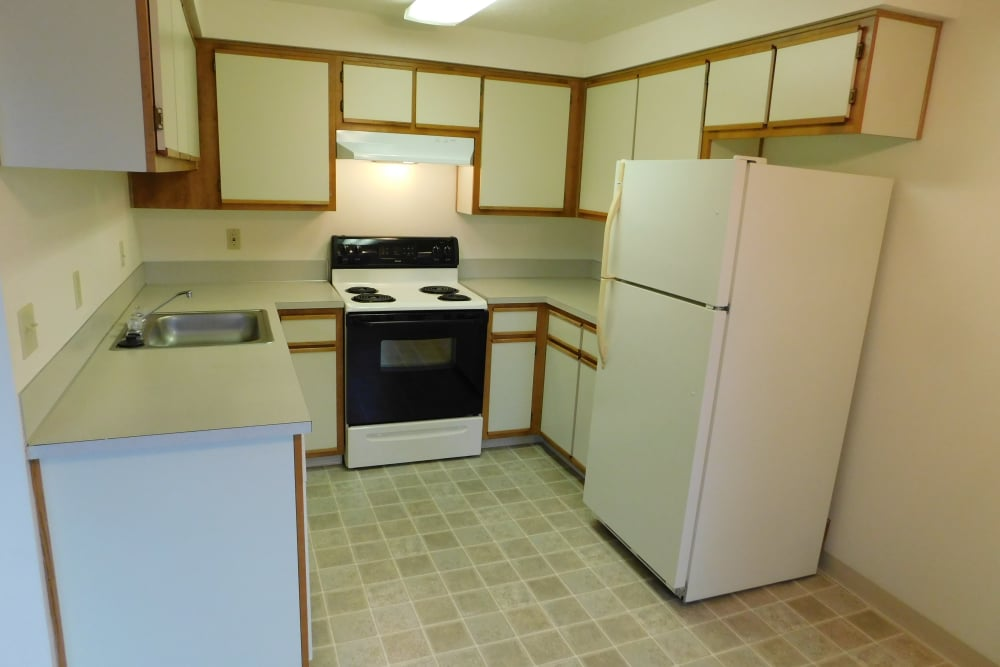 Our apartments in Silverton, Oregon has a modern kitchen