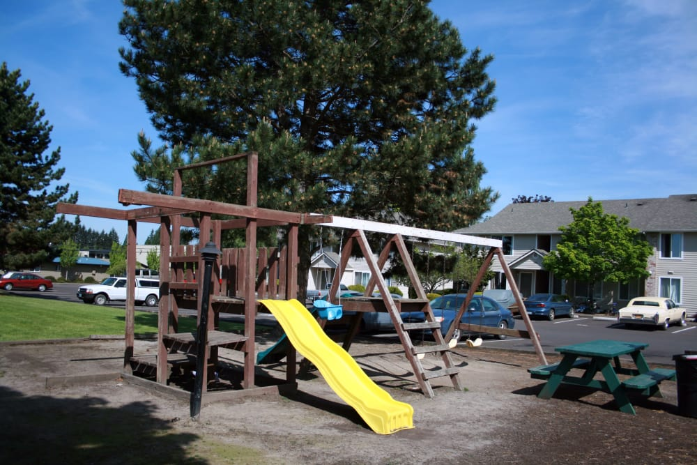 Spacious playground area in Pacific Crest in Silverton, Oregon