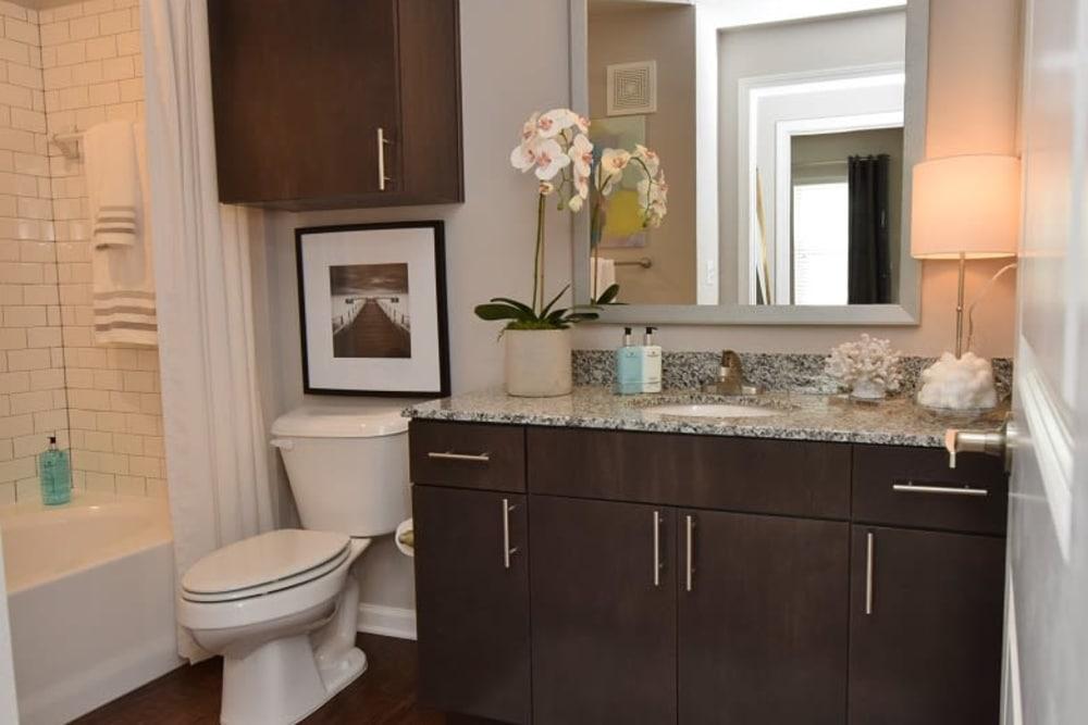 Beautiful bathroom at Park Rowe Village at Perkins Rowe in Baton Rouge, Louisiana