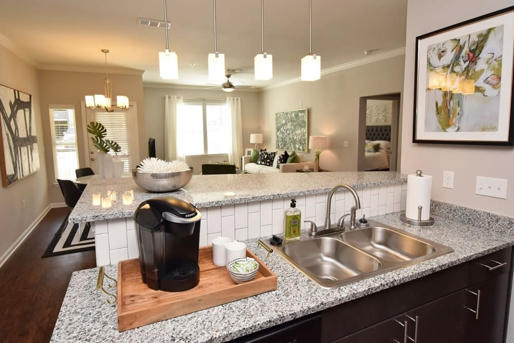 Beautiful kitchen at apartments in Baton Rouge, Louisiana