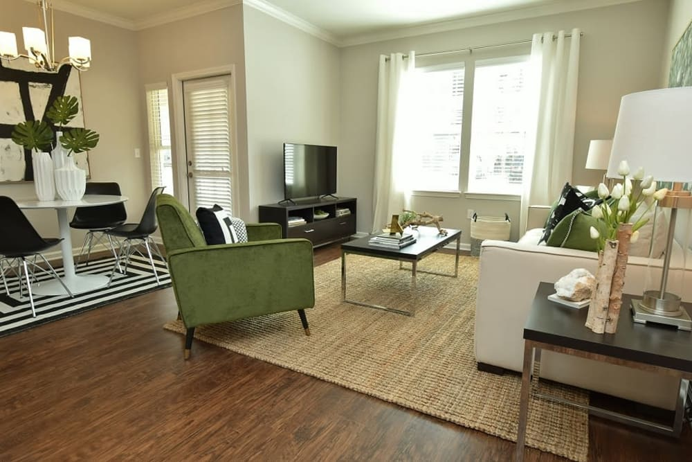 Spacious living room at apartments in Baton Rouge, Louisiana