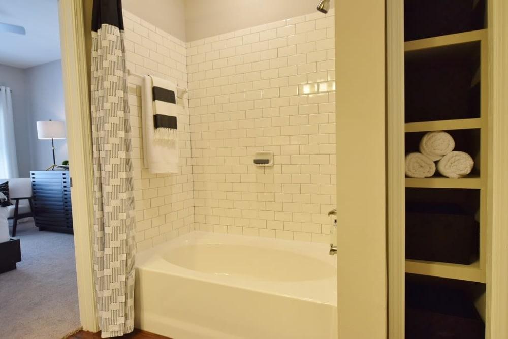 Beautiful bathroom at apartments in Baton Rouge, Louisiana