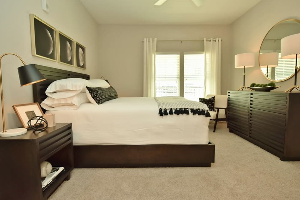 Beautiful bedroom at apartments in Baton Rouge, Louisiana