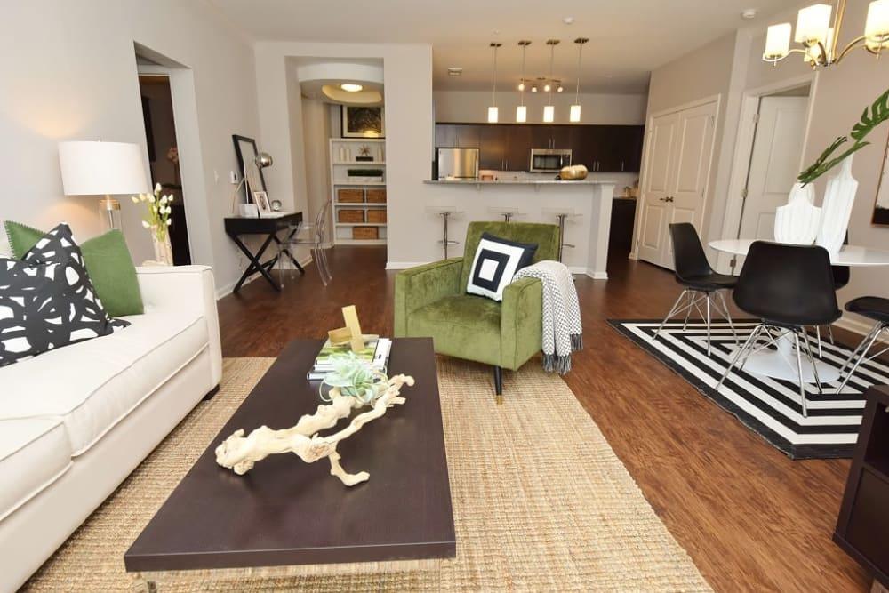 Our apartments in Baton Rouge, Louisiana showcase a spacious living room