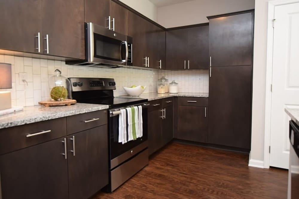 Beautiful kitchen at Park Rowe Village at Perkins Rowe in Baton Rouge, Louisiana