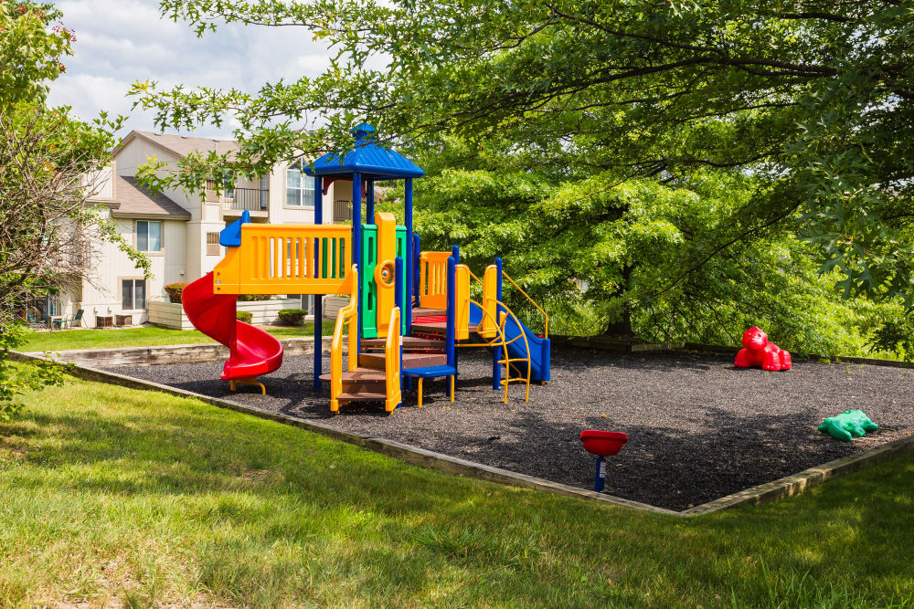 Kids play area at Briar Cove Terrace Apartments in Ann Arbor, MI