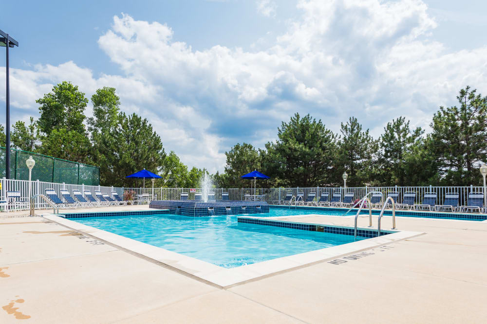 Resident pool at Briar Cove Terrace Apartments in Ann Arbor, MI