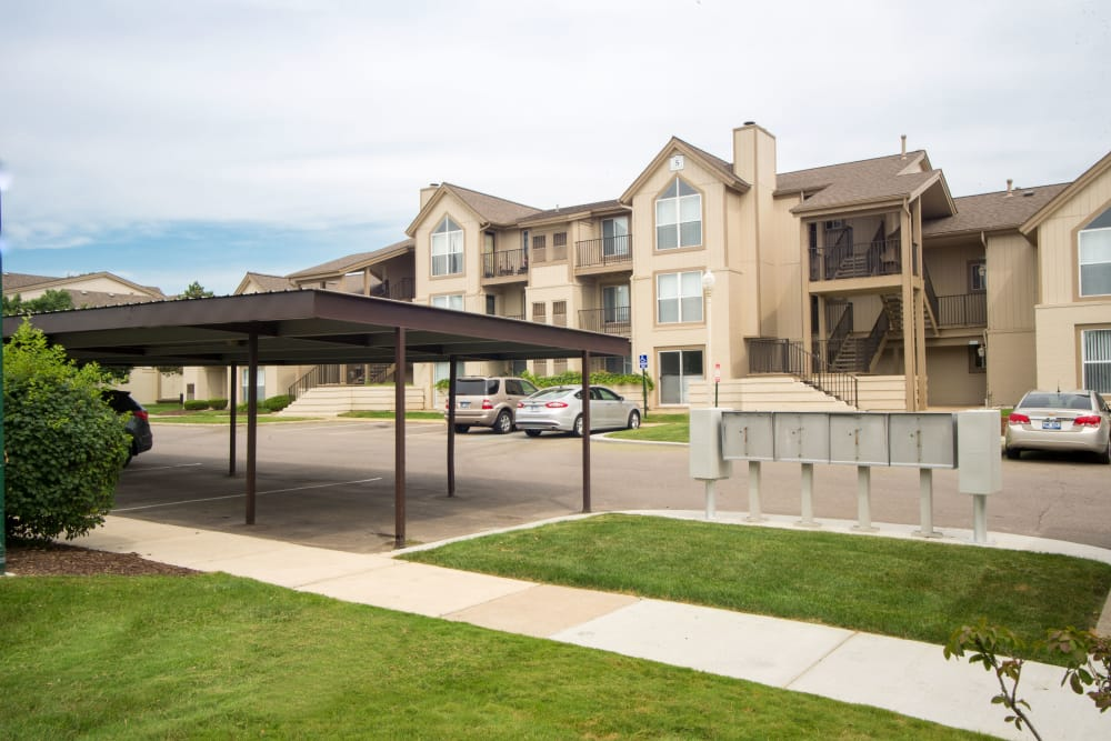 Ample parking at Briar Cove Terrace Apartments in Ann Arbor, MI