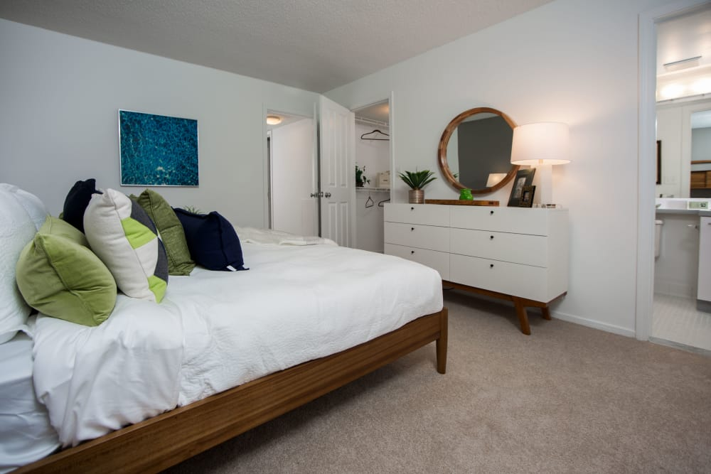 Guest bedroom at Briar Cove Terrace Apartments in Ann Arbor, MI