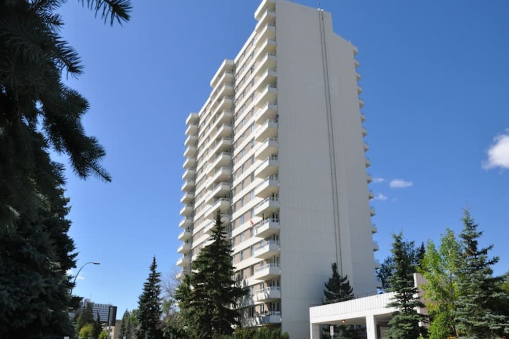 Exterior view of the apartment building at Glenmore Heights