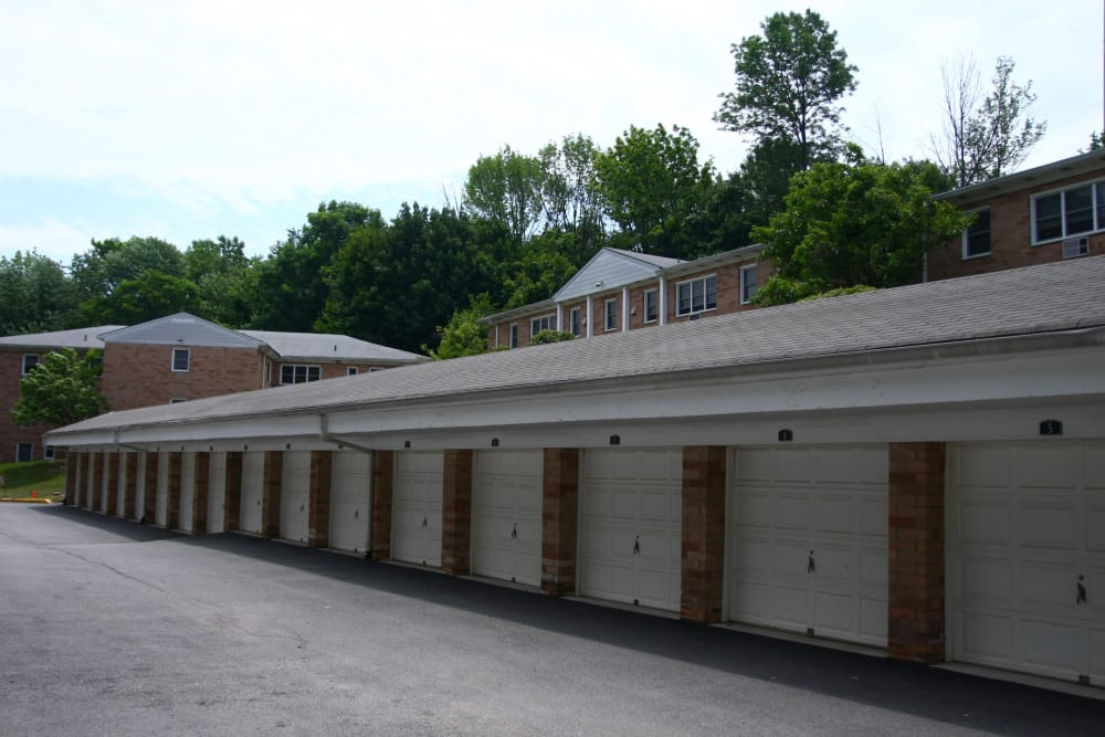 Parking garages at Pompton Gardens in Cedar Grove