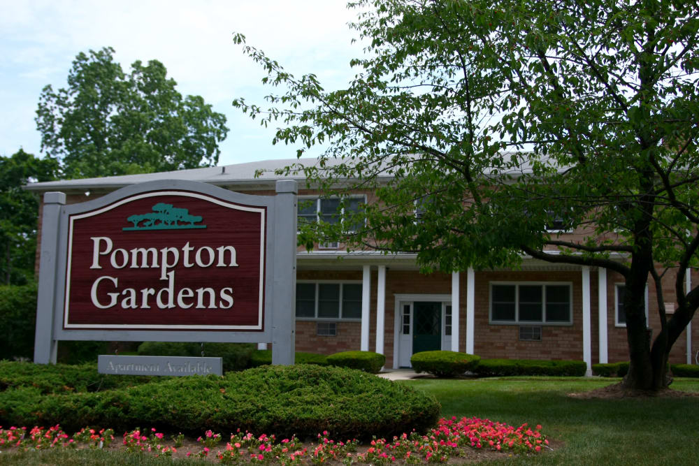 Pompton Gardens sign in Cedar Grove