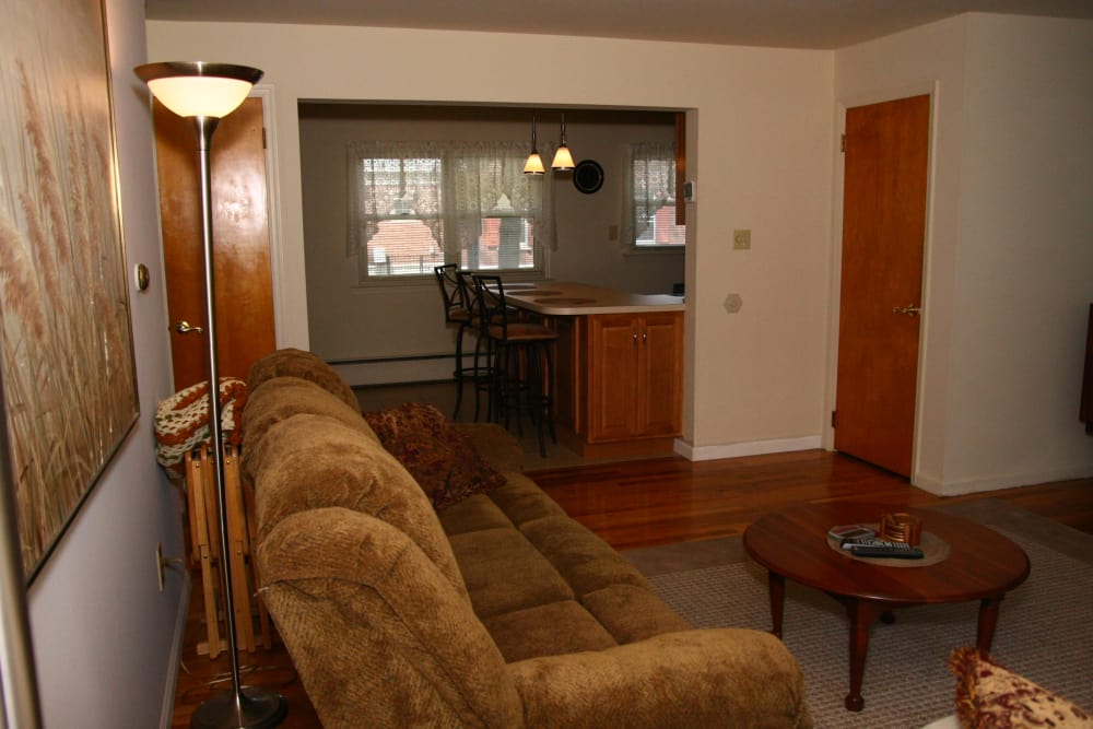 Alternative view of the living room layout at Riverwood Commons