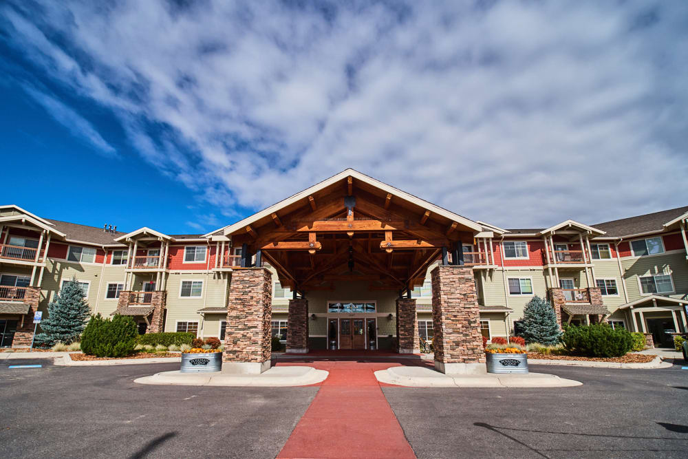 Front entrance at Bozeman Lodge in Bozeman, Montana