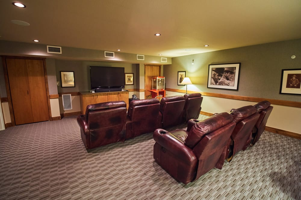 Movie room at Bozeman Lodge in Bozeman, Montana