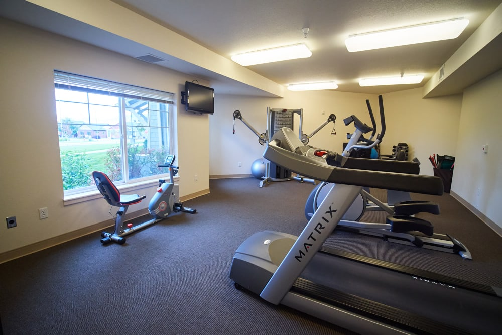 Fitness center at Bozeman Lodge in Bozeman, Montana
