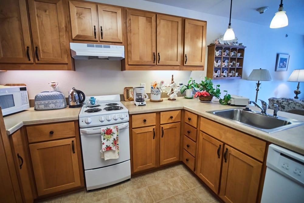 Private kitchen at Bozeman Lodge in Bozeman, Montana