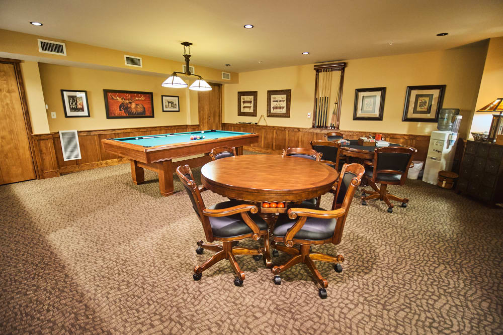 Game room at Bozeman Lodge in Bozeman, Montana