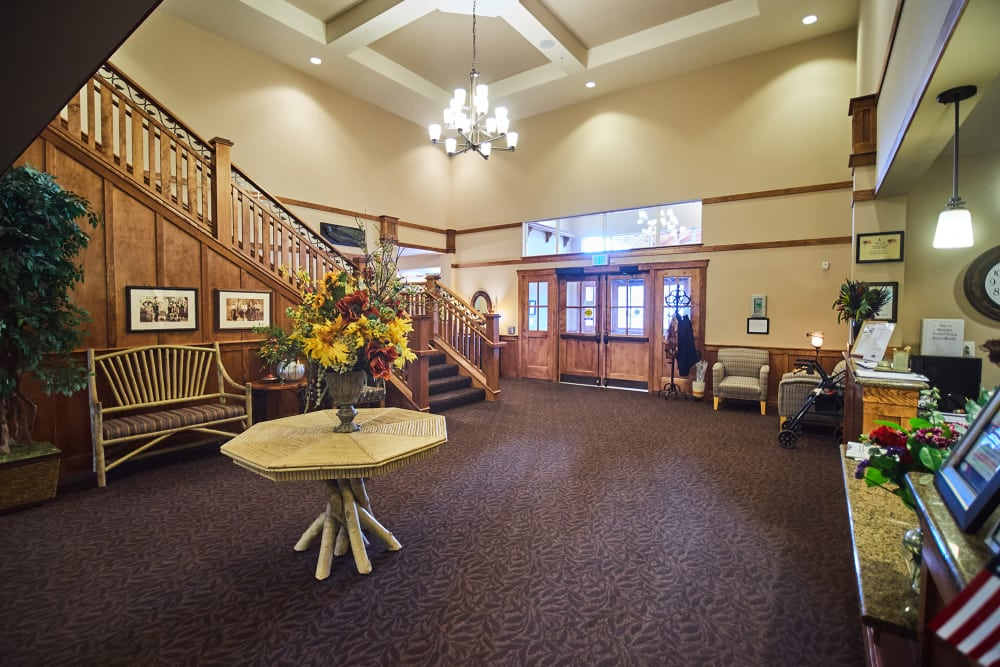 Lobby at Bozeman Lodge in Bozeman, Montana