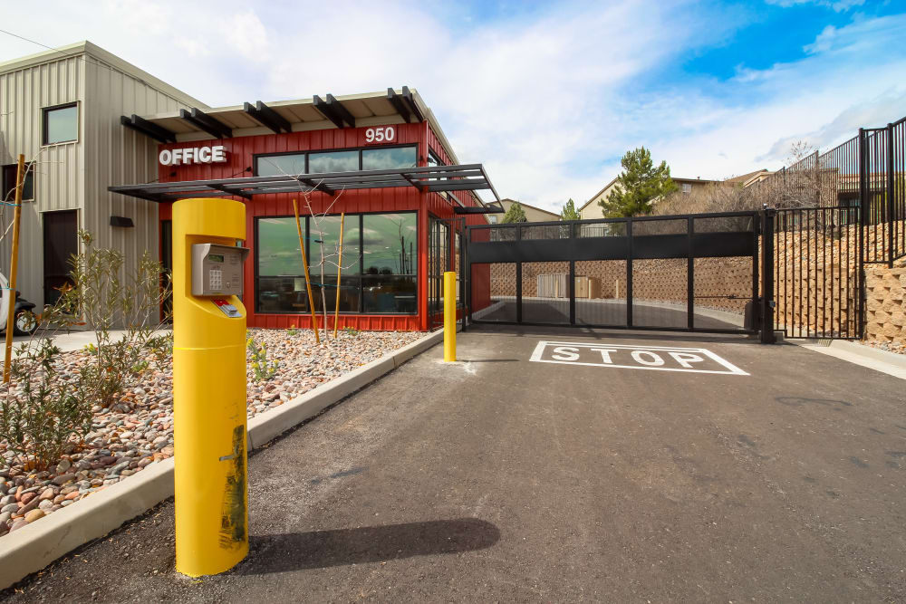 Gated access at Cottonwood Cool Storage in AZ