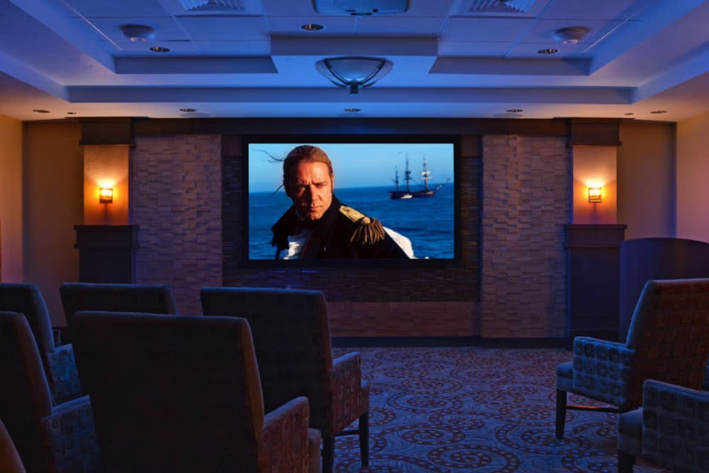 Movie room at Waterford Grand in Eugene, OR