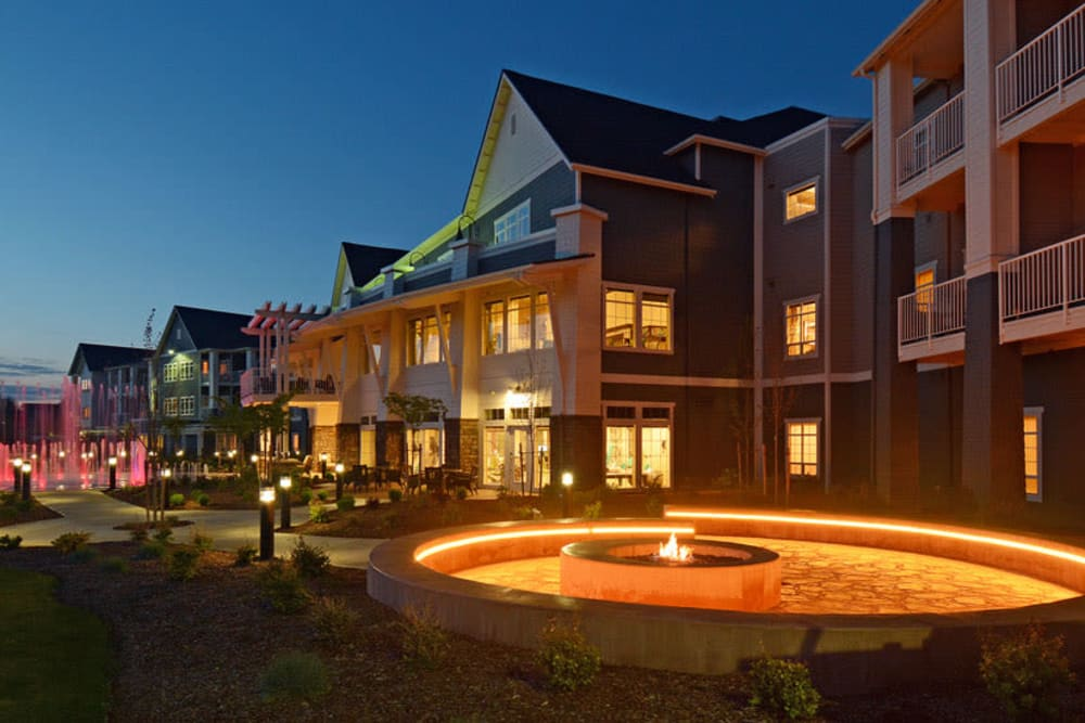 Waterford Grand at night in Eugene, OR