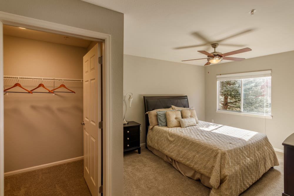 Master bedroom at Willow Run Village Apartments