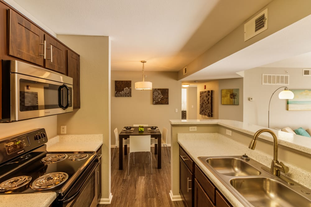 Kitchen at Willow Run Village Apartments